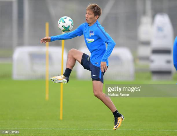 Genki Haraguchi of Hertha BSC during the training on july 7 2017 in Berlin Germany