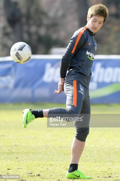 Genki Haraguchi of Hertha BSC during the training on march 15 2017 in Berlin Germany