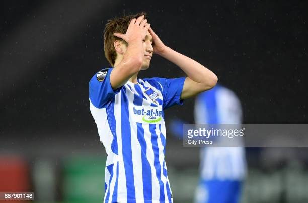 Genki Haraguchi of Hertha BSC during the Uefa Europa League Group J match between Hertha BSC and Oestersunds FK on december 7 2017 in Berlin Germany