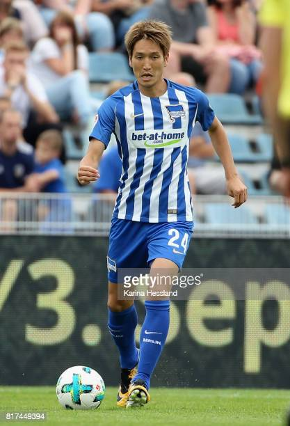 Genki Haraguchi of Hertha during the Preseason Friendly match between FC Carl Zeiss Jena and Hertha BSC on July 16 2017 in Jena Germany