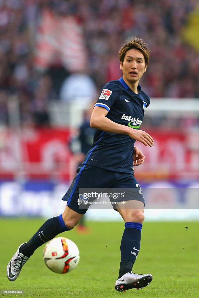 <a gi-track='captionPersonalityLinkClicked' href=/galleries/search?phrase=Genki+Haraguchi&family=editorial&specificpeople=5473188 ng-click='$event.stopPropagation()'>Genki Haraguchi</a> of Hertha runs with the ball during the Bundesliga match between VfB Stuttgart and Hertha BSC Berlin at Mercedes-Benz Arena on February 13, 2016 in Stuttgart, Germany.