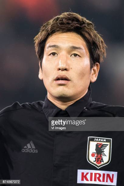 Genki Haraguchi of Japan during the friendly match between Belgium and Japan on November 14 2017 at the Jan Breydel stadium in Bruges Belgium