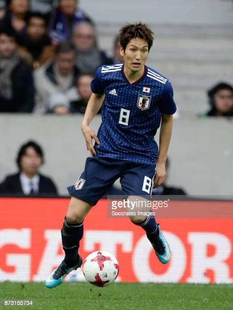 Genki Haraguchi of Japan during the International Friendly match between Japan v Brazil at the Stade Pierre Mauroy on November 10 2017 in Lille France