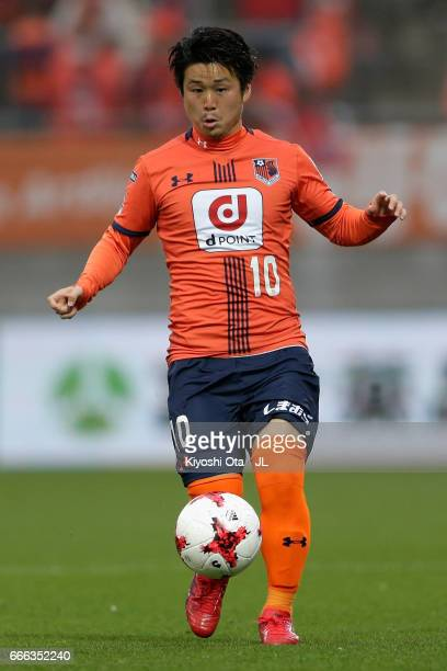 Genki Omae of Omiya Ardija in action during the JLeague J1 match between Omiya Ardija and Vissel Kobe at Nack 5 Stadium Omiya on April 8 2017 in...