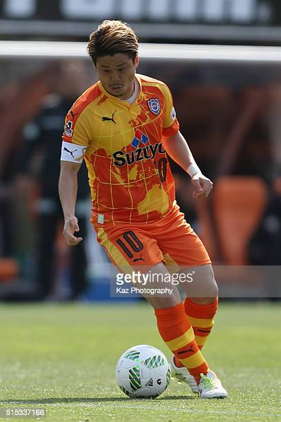 Genki Omae of Shimizu SPulse in action during the JLeague second division match between Shimizu SPulse and Matsumoto Yamaga at the IAI Stadium...