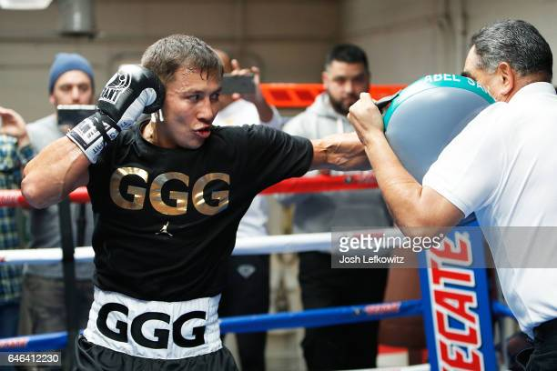 Gennady 'GGG' Golovkin works out at the Wild Card Boxing Club in Santa Monica California February 8 2017