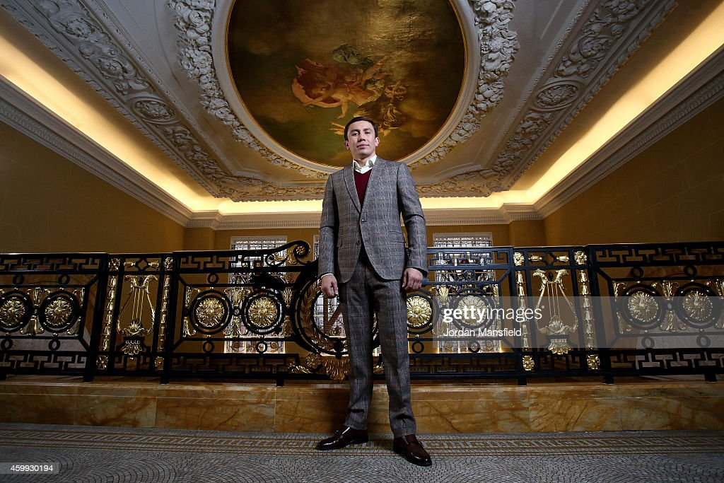 <a gi-track='captionPersonalityLinkClicked' href=/galleries/search?phrase=Gennady+Golovkin&family=editorial&specificpeople=10619206 ng-click='$event.stopPropagation()'>Gennady Golovkin</a> poses for a photo ahead of the press conference for the upcoming fight between Martin Murray and <a gi-track='captionPersonalityLinkClicked' href=/galleries/search?phrase=Gennady+Golovkin&family=editorial&specificpeople=10619206 ng-click='$event.stopPropagation()'>Gennady Golovkin</a> on December 4, 2014 in London, England.