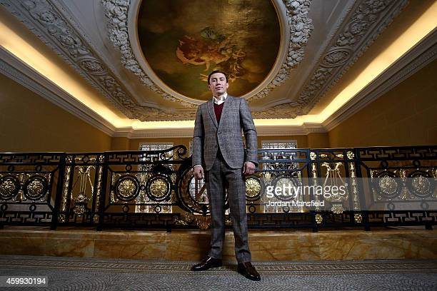 Gennady Golovkin poses for a photo ahead of the press conference for the upcoming fight between Martin Murray and Gennady Golovkin on December 4 2014...