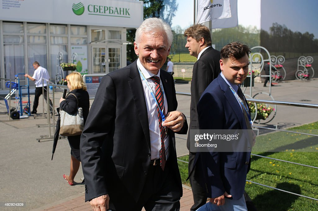 <a gi-track='captionPersonalityLinkClicked' href=/galleries/search?phrase=Gennady+Timchenko&family=editorial&specificpeople=10841361 ng-click='$event.stopPropagation()'>Gennady Timchenko</a>, Russian billionaire, center, moves between halls during the St. Petersburg International Economic Forum (SPIEF) in Saint Petersburg, Russia, on Thursday, May 22, 2014. SPIEF is an annual international conference dedicated to economic and business issues which takes place at the Lenexpo exhibition center May 22-24. Photographer: Andrey Rudakov/Bloomberg via Getty Images