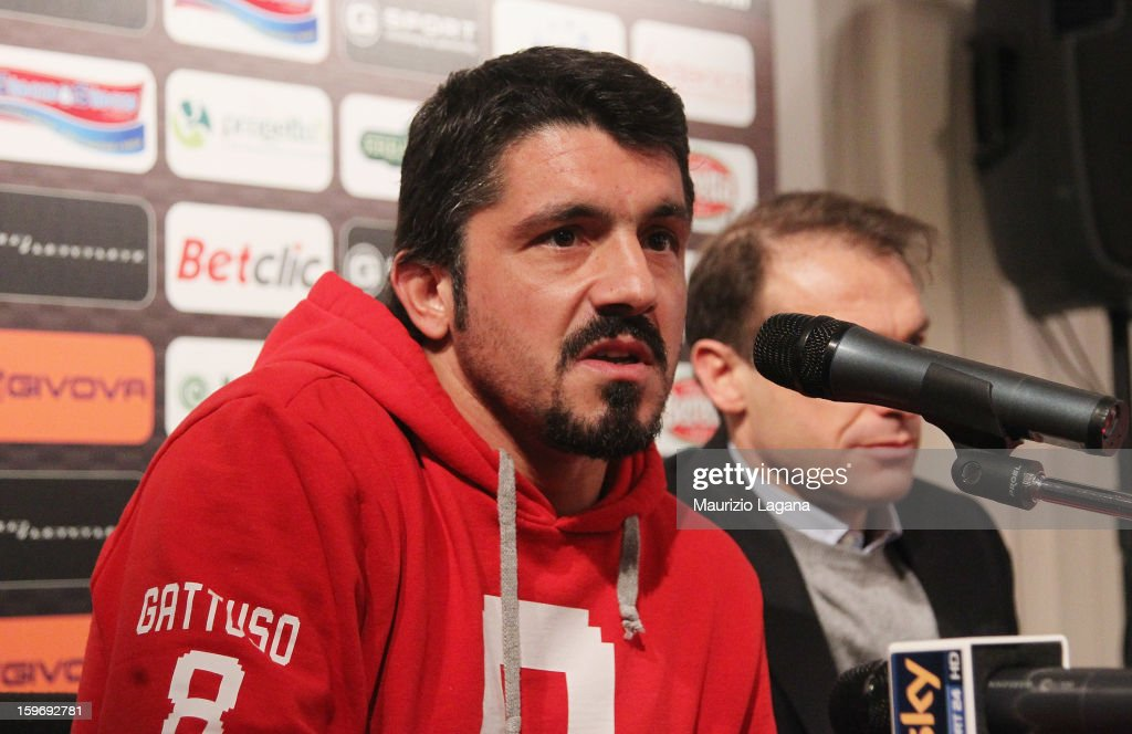 Gennaro Gattuso of Sion attends at press conference before the friendly match between Reggina Calcio and FC Sion on January 18, 2013 in Reggio Calabria, Italy.