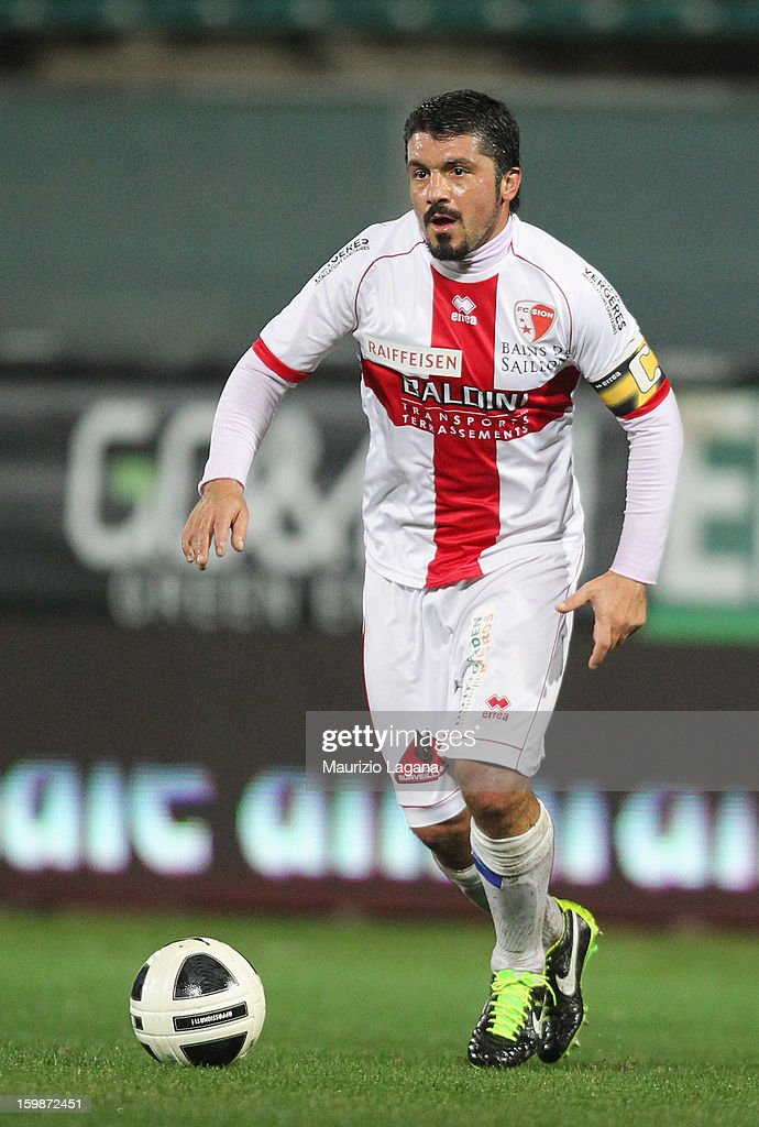 Gennaro Gattuso of Sion during the friendly match between Reggina Calcio and FC Sion on January 18, 2013 in Reggio Calabria, Italy.