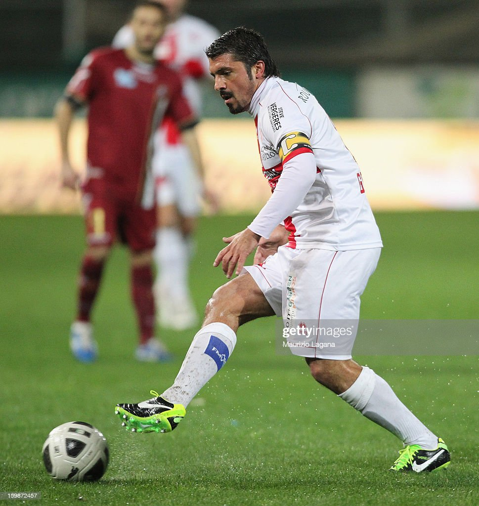 <a gi-track='captionPersonalityLinkClicked' href=/galleries/search?phrase=Gennaro+Gattuso&family=editorial&specificpeople=210827 ng-click='$event.stopPropagation()'>Gennaro Gattuso</a> of Sion during the friendly match between Reggina Calcio and FC Sion on January 18, 2013 in Reggio Calabria, Italy.