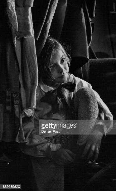 Gennie Austin revives a Dickens Tradition as Tiny Tim Sitting in costume in crowded Third Eye dressing room she waits for makeup Credit Denver Post