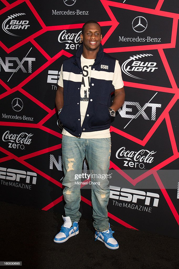 <a gi-track='captionPersonalityLinkClicked' href=/galleries/search?phrase=Geno+Smith&family=editorial&specificpeople=6379793 ng-click='$event.stopPropagation()'>Geno Smith</a> attends ESPN The Magazine's 'Next' Event at Tad Gormley Stadium on February 1, 2013 in New Orleans, Louisiana.