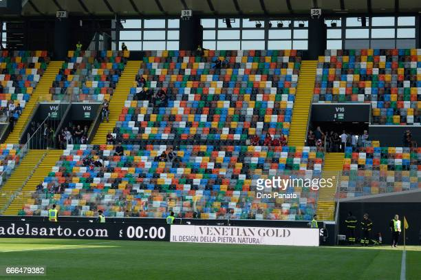 Genoa CFC during the Serie A match between Udinese Calcio and Genoa CFC at Stadio Friuli on April 9 2017 in Udine Italy