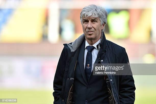 Genoa CFC head coach Gian Piero Gasperini looks on during the Serie A match between Genoa CFC and Torino FC at Stadio Luigi Ferraris on March 13 2016...