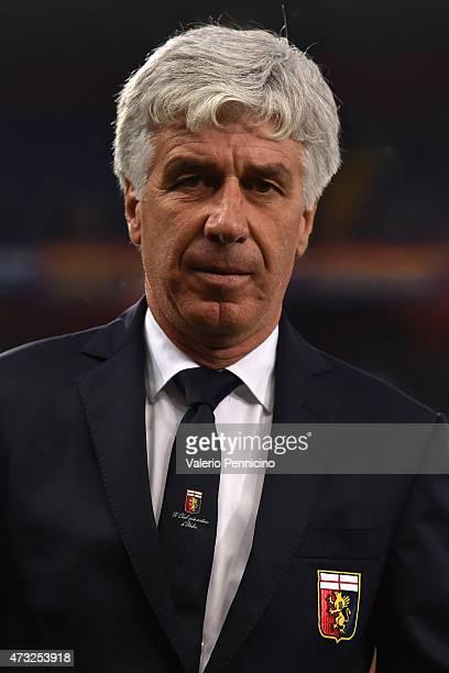 Genoa CFC head coach Gian Piero Gasperini looks on prior to the Serie A match between Genoa CFC and Torino FC at Stadio Luigi Ferraris on May 11 2015...