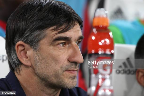 Genoa coach Ivan Juric during the Serie A football match n33 JUVENTUS GENOA on at the Juventus Stadium in Turin Italy
