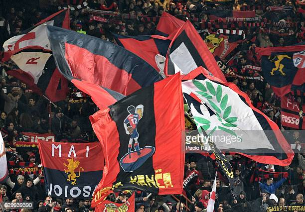 Genoa supporters during the Serie A match between Genoa CFC and ACF Fiorentina at Stadio Luigi Ferraris on December 15 2016 in Genoa Italy