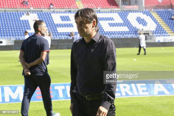 Genoa's coach Ivan Juric during the Serie A match between Cagliari Calcio and Genoa CFC at Stadio Sant'Elia on October 15 2017 in Cagliari Italy
