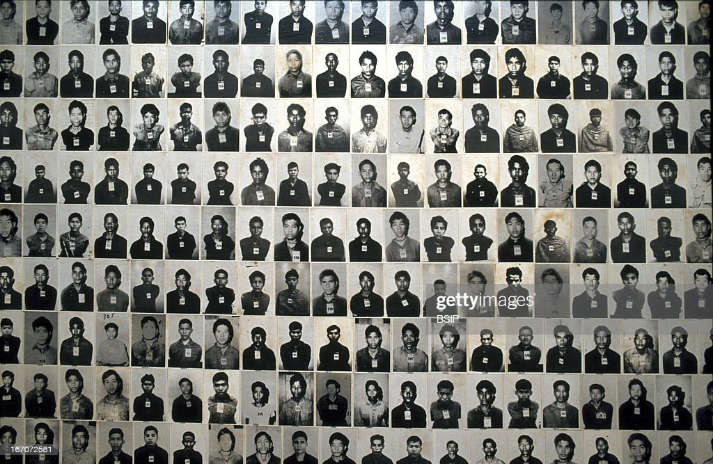 Genocide, Tuol Sleng museum. Photographs of Khmer Rouge ...