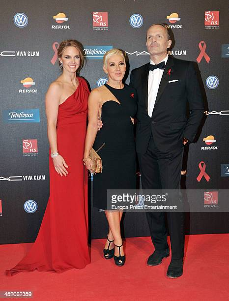 Genoveva Casanova Ana Torroja and Miguel Bose p attend the '4th Annual Gala Sida Barcelona 2013' Museo Nacional de Arte de Cataluna on November 25...