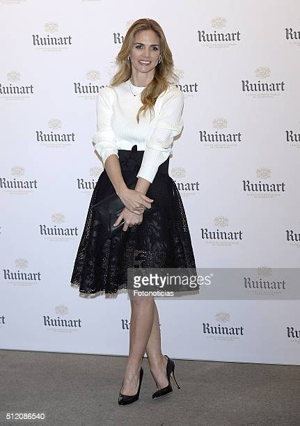 Genoveva Casanova attends ARCO 35th anniversary party at Marlborough Art Gallery on February 24 2016 in Madrid Spain