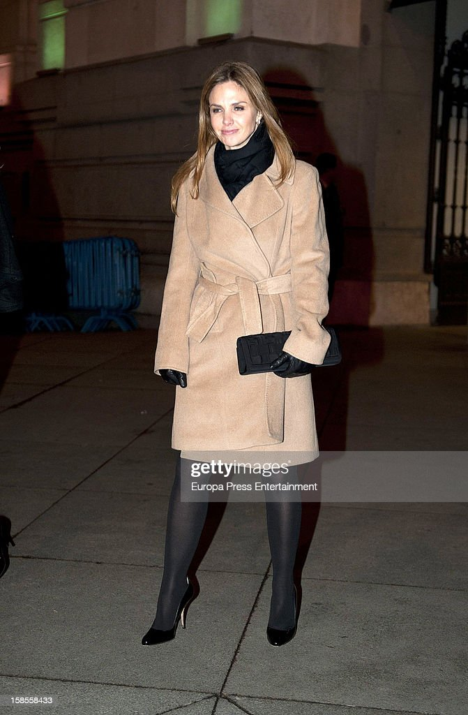 Genoveva Casanova attends 'El Legado Casa de Alba' art exhibition at Palacio Cibeles on December 18, 2012 in Madrid, Spain.