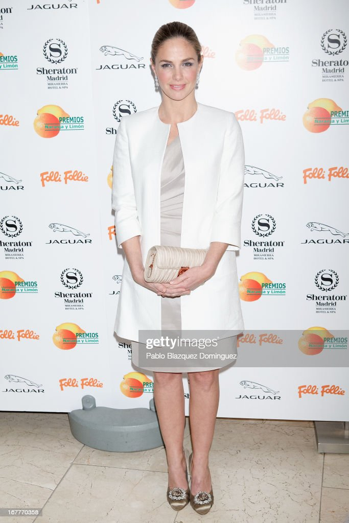 Genoveva Casanova attends 'Orange And Lemon' Awards ceremony at Sheraton Mirasierra Hotel on April 29, 2013 in Madrid, Spain.