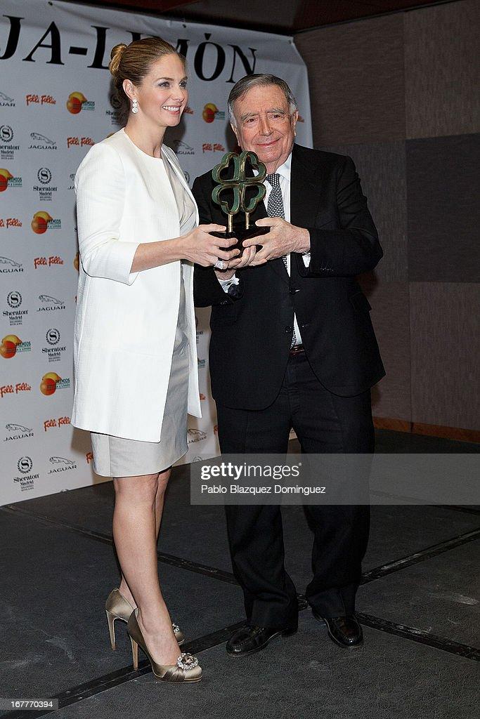 Genoveva Casanova (L) attends 'Orange And Lemon' Awards ceremony at Sheraton Mirasierra Hotel on April 29, 2013 in Madrid, Spain.
