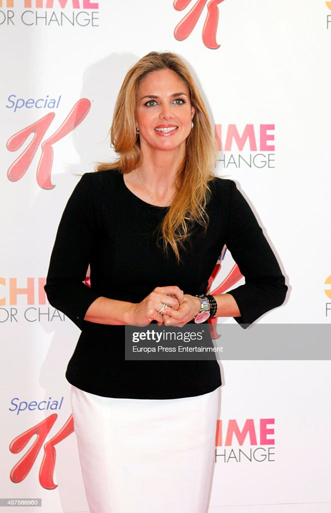 Genoveva Casanova presents the campaign Chime For Change By Gucci Foundation and Special K of Kellogg's at Special K of Kellogg's headquarters on October 21, 2014 in Madrid, Spain.