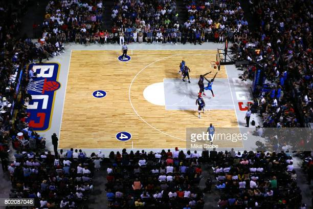 A genral view of action as the Power take on TriState during week one of the BIG3 three on three basketball league at Barclays Center on June 25 2017...
