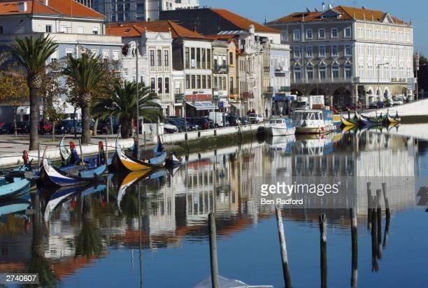 A genral view of the San Roque canal November 18 2003 in the centre of Aveiro Portugal Aveiro is one of the host cities for the UEFA European...