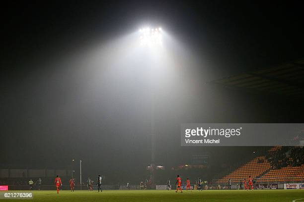 Genral view of the Stade Le Basser Stadium in Laval during the Ligue 2 match between Stade Lavallois and Le Havre AC on November 4 2016 in Laval...