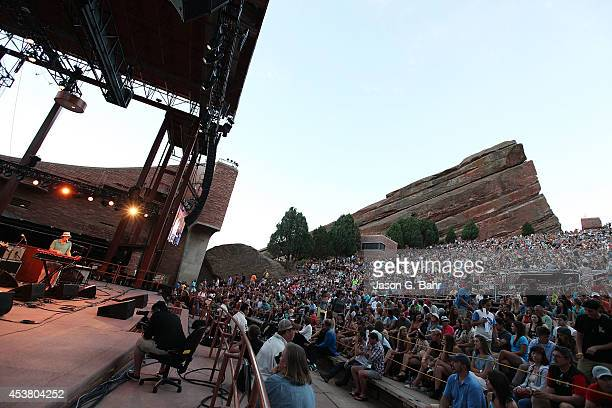 Genreal view as ALO performs at Red Rocks Amphitheatre on August 18 2014 in Morrison Colorado