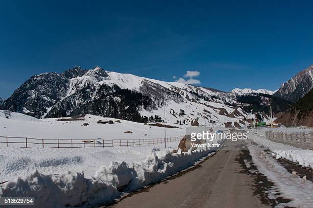 Genreal view of SrinagarLeh Highway on a treacherous pass which remains snow bound for most of the time is likely to open early this year mostly...