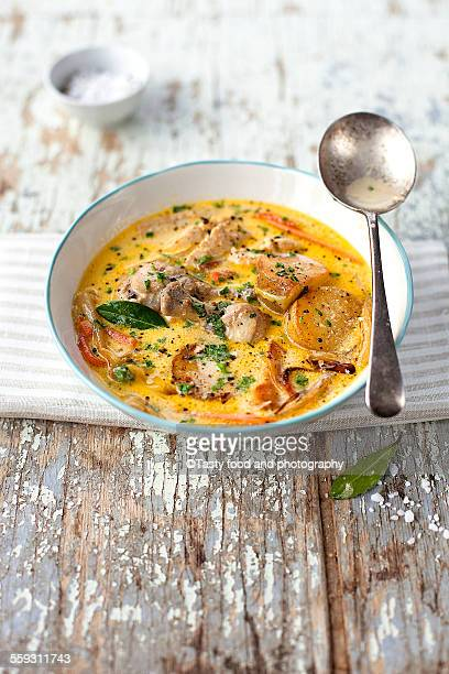 Gent chicken soup with potatoes
