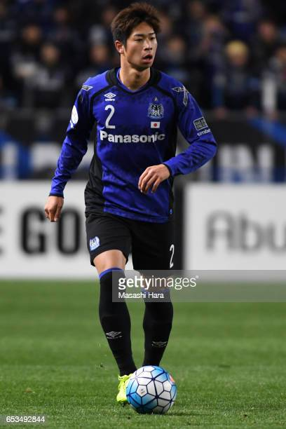 Genta Miura of Gamba Osaka in action during the AFC Champions League Group H match between Gamba Osaka and Jiangsu FC at Suita City Football Stadium...
