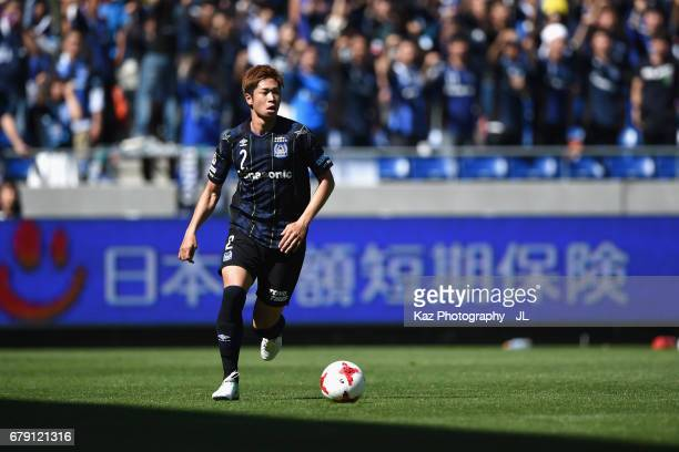 Genta Miura of Gamba Osaka in action during the JLeague J1 match between Gamba Osaka and Shimizu SPulse at Suita City Football Stadium on May 5 2017...