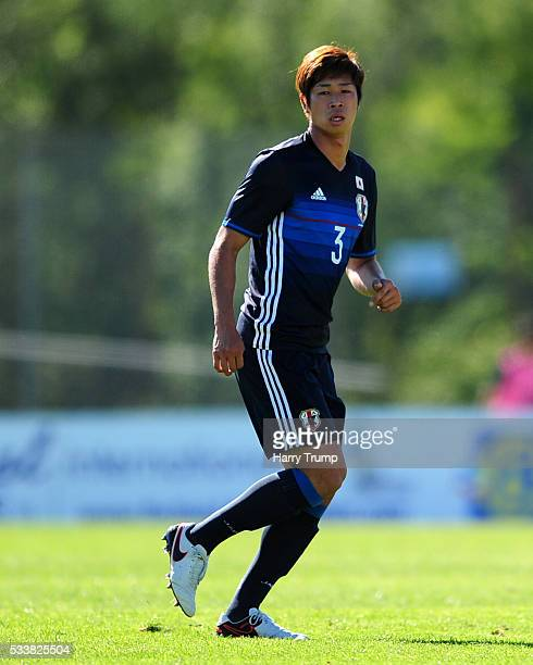Genta Miura of Japan during the Toulon Tournament match between Japan and Paraguay at Stade De Lattre on May 21 2016 in Aubagne France