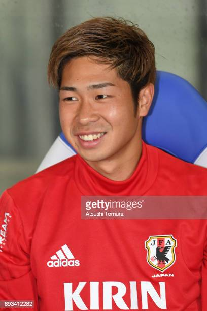 Genta Miura of Japan looks on during the international friendly match between Japan and Syria at Tokyo Stadium on June 7 2017 in Chofu Tokyo Japan