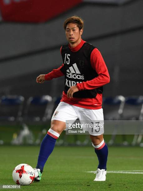 Genta Miura of Japan warms up during the international friendly match between Japan and Syria at Tokyo Stadium on June 7 2017 in Chofu Tokyo Japan