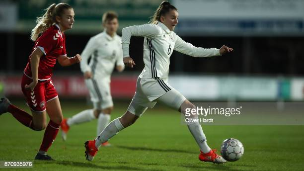 Gentiana Fetaj of Germany in action during the U16 Girls international friendly match betwwen Denmark and Germany at the Skive Stadion on November 6...