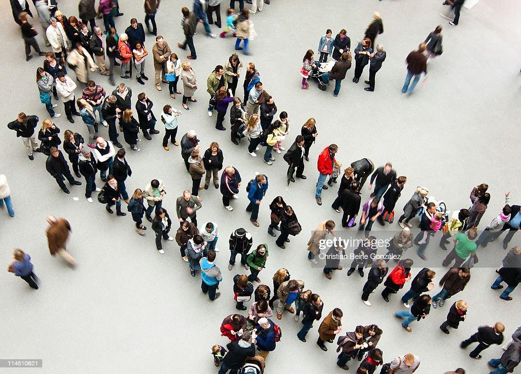 Gentle Art of Queuing : Stock Photo