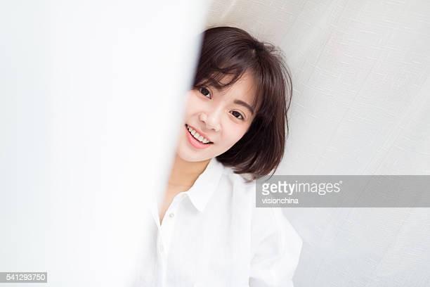 穏やかな中国の少女