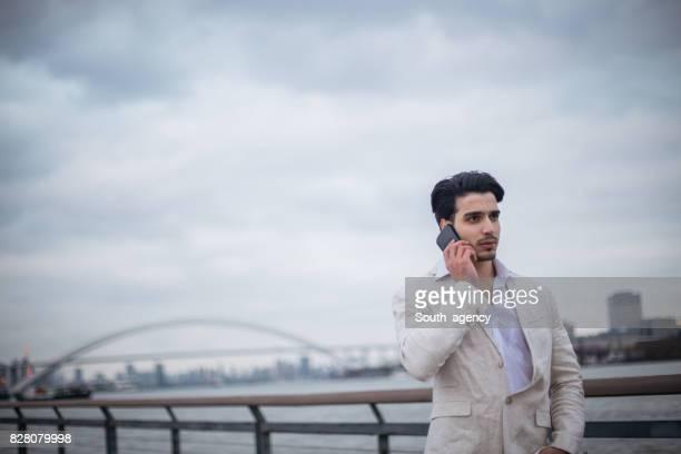 Gentleman standing on the pier