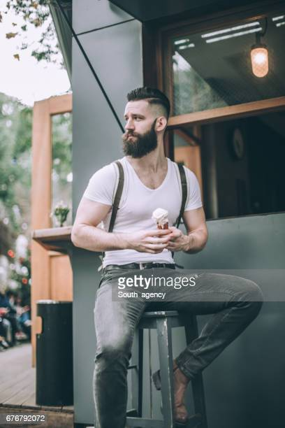 Gentleman with ice cream