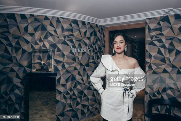 Gentleman's Evening event organised at the Annabel club by Chopard in Cannes Actress Marion Cotillard May 24 2017 Marion Cotillard