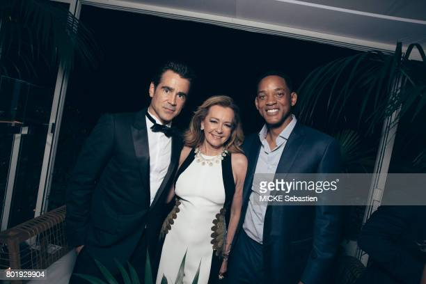 Gentleman's Evening event organised at the Annabel club by Chopard in Cannes Colin Pharrell Caroline Scheufele and Will Smith May 24 2017 Colin...
