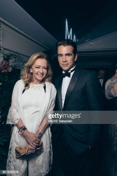 Gentleman's Evening event organised at the Annabel club by Chopard in Cannes Colin Pharrell Caroline Scheufele May 24 2017 Colin Farrell Caroline...